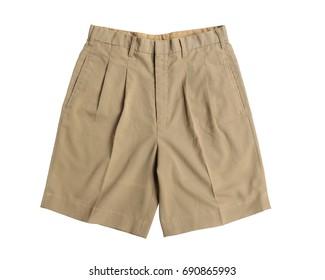 Thai student shorts isolated on white background