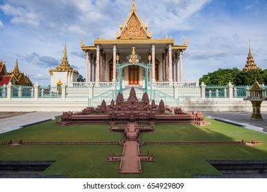 Thai style asian buddhist temple decorated roof