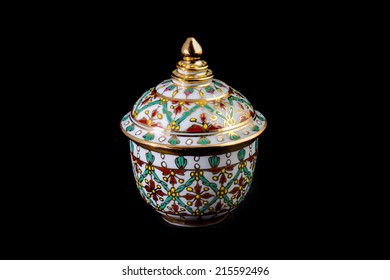 Thai style cup - Bencharong wares