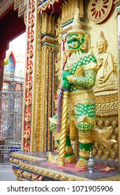 The Thai style giant at the Temple