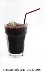 Thai style ice black coffee isolate on white background
