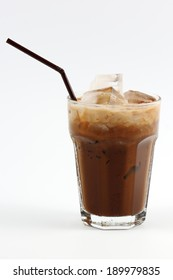 Thai style Ice coffee Isolate in white background