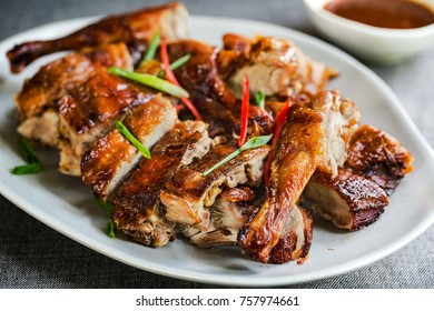 Thai style Roasted Chicken with  Chili Sauce