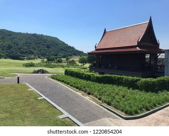 Thai Style Roof Clubhouse in Golf Course