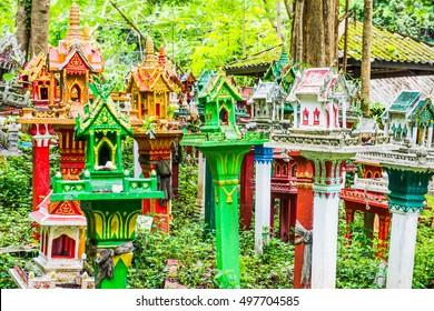Thai style spirit house, Thailand