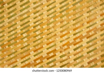 Thai style traditional handcraft weave in natural texture or background for furniture material