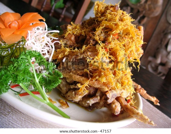 Thai styled soft shell crab