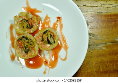 Thai sweetmeat grilled mussel coconut cream hotcake called Kanom Krok