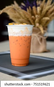 Thai tea iced topping with cream cheese