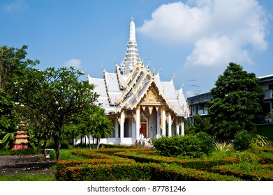 thai temple in forest,Chachengsao in Thailand