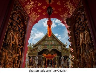 thai temple lanna Wat Ming Muang Chiang Rai Thailand