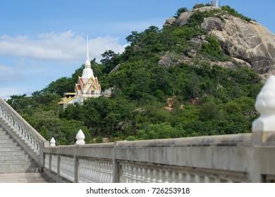 Thai temple on mountain.