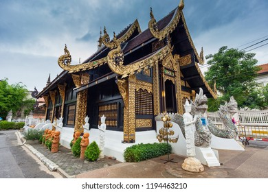 Thai temple Wat Inthakhin Sadue Muang in Chiang Mai; Thailand