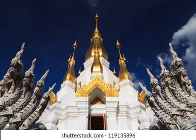 Thai temple, Wat tham kuha sawan, Ubon ratchathani province, Thailand