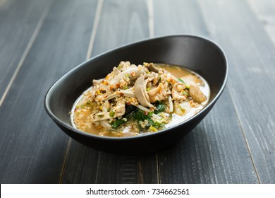 Thai tomyam Noodle, Spicy Thai soup, Thai cuisine