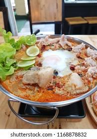 Thai tomyam soup for dinner.