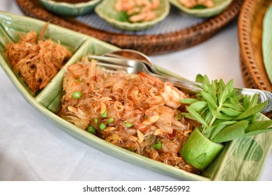 Thai traditional food, Asian raw healthy diet appetizer, Pomelo citrus fruit with spicy dressing and shrimp, Salad stater refreshing with herbal nutrient.