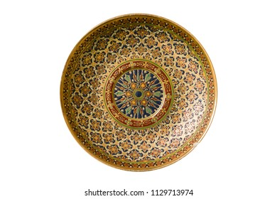 Thai Traditional Porcelain, Thai benjarong isolated on white background