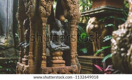 Thai Traditional Religious Statues Symbols Buddhism Stock Photo