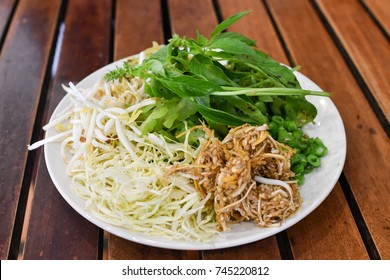 Thai vegetable side dish for rice noodle
