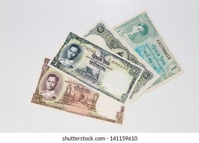 Thai vintage baht banknote