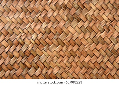Thai woven pattern of bamboo wood