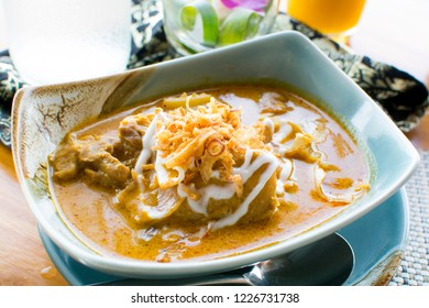 Thai yellow chicken curry. It is a variant of curry which is more creamy and less spicy