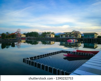 Chanthaburi pool homestay is called Ton Naa, April 29 2019 : The homestay at Laem sing district Chantaburi Province landscape Shop seafood and relax holiday travel, Thailand