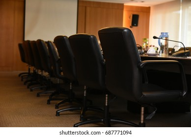 Thailand, Bangkok, Aug 1,2017:Meeting room or Business conference room ,Business meeting for press conference room in office.