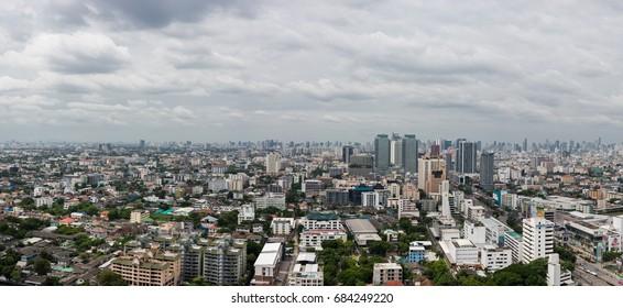 Thailand - Bangkok July 15, 2017,Panorama view city scape of Bangkok.