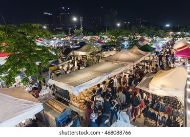 Thailand, Bangkok, people night Market, JJ Green ,Taken on August 13, 2016.