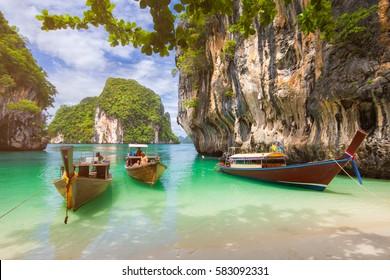 Thailand Beach Summer season at Krabi , Thailand