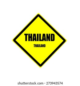 Thailand black stamp text on yellow background