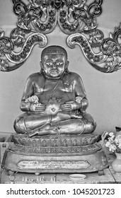 Thailand, Chiangmai, Buddha statue at the Ket Karam Buddhist temple (Wat Ket Karam)