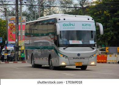 THAILAND / CHIANGMAI - SEPTEMBER 11 2012:  Bus between Chiangmai  and Maesai ( Chiangrai province ). Photo at New Chiangmai bus station, thailand.