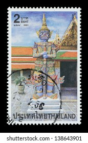 "THAILAND - CIRCA 2001: A postage printed in Thailand show image of Miyarap  from the series ""Demons"" in the epic Ramayana, circa  2001"