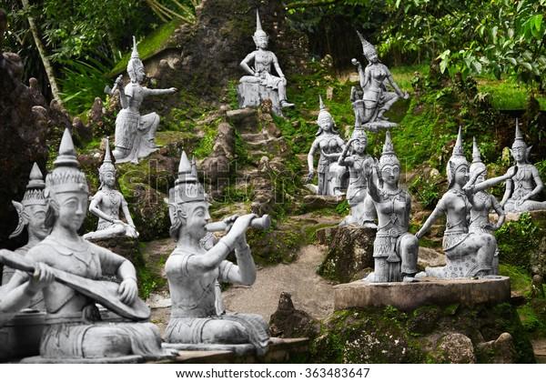 Thailand Closeup Magic Secret Buddha Garden Stock Photo