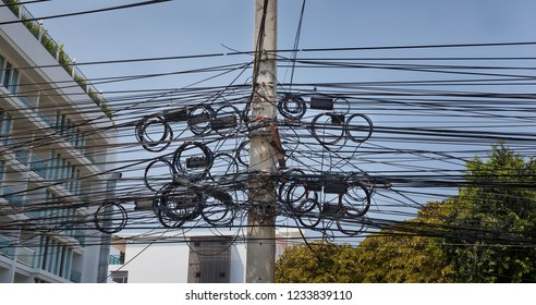 thailand electricity wire mess