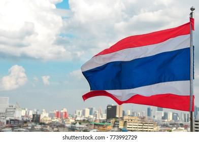"""Thailand"" Flag of Thailand in Bangkok"