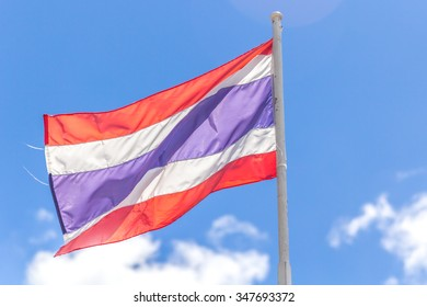 Thailand Flag with bluesky background