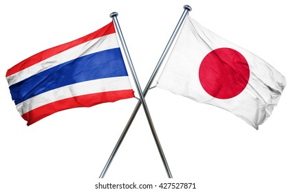 Thailand flag  combined with japan flag