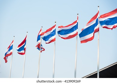 Thailand flag waving in the wind
