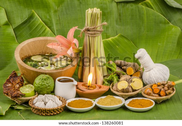 Thailand Herbal Body Scrub for skin treatment and skin odor. For health and relaxation.