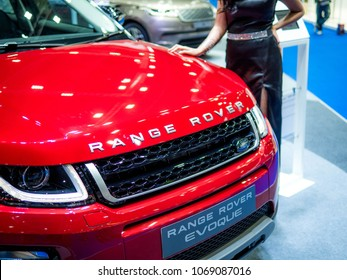 Thailand International Motor Expo 2018 Bangkok - APRIL 6, 2018 : Presenting the Range Rover car in the 39th Bangkok interanational motor show 2018