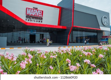 Thailand - JULY 7, 2018 : The Marvel Experience Thailand is themed Entertainment Attraction and now is opening at Megabangna, Samut Prakan, Thailand.
