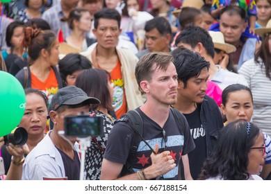 Thailand June 25: Phitakhon festival Phitakhon masks and dance to show festival on june 25 ,2017 in loei province of Thailand