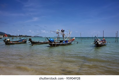 Thailand, Koh Samui (Samui Island), local fishing boats