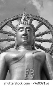 Thailand, Koh Samui (Samui Island), Phra Yai Buddhist Temple (Wat Phra Yai), the golden Big Buddha statue (12 meters tall)