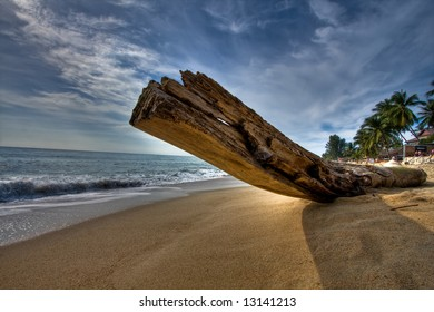 "Thailand - ""Koh Samui"" - log on beach"
