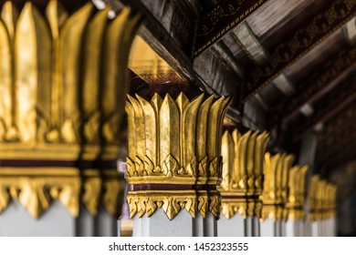 Thailand Landmark, Travel destination in Thailand, architecture detail at Wat Phra Kaew Palace, also known as the Emerald Buddha Temple, Bangkok, Thailand